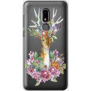 Силиконовый чехол BoxFace Meizu M8 Lite Deer with flowers (935869-rs5)