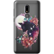 Силиконовый чехол BoxFace Meizu M8 Lite Cat in Flowers (935869-rs10)