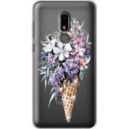 Силиконовый чехол BoxFace Meizu M8 Lite Ice Cream Flowers (935869-rs17)