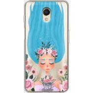 Силиконовый чехол BoxFace Meizu M6s Blue Hair (35011-cc57)