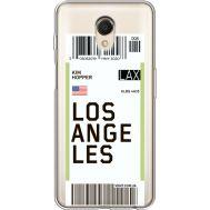 Силиконовый чехол BoxFace Meizu M6s Ticket Los Angeles (35011-cc85)
