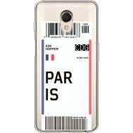 Силиконовый чехол BoxFace Meizu M6s Ticket Paris (35011-cc86)