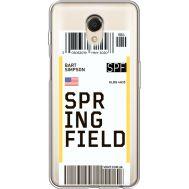Силиконовый чехол BoxFace Meizu M6s Ticket Springfield (35011-cc93)