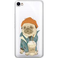 Силиконовый чехол BoxFace Meizu U10 Dog Coffeeman (36786-cc70)
