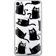 Силиконовый чехол BoxFace Meizu U10 с 3D-глазками Black Kitty (36786-cc73)