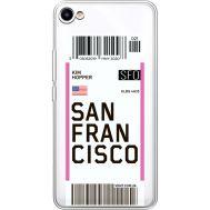 Силиконовый чехол BoxFace Meizu U10 Ticket San Francisco (36786-cc79)
