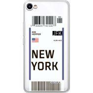 Силиконовый чехол BoxFace Meizu U10 Ticket New York (36786-cc84)