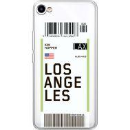 Силиконовый чехол BoxFace Meizu U10 Ticket Los Angeles (36786-cc85)