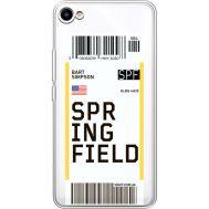 Силиконовый чехол BoxFace Meizu U10 Ticket Springfield (36786-cc93)