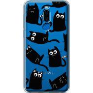 Силиконовый чехол BoxFace Meizu X8 с 3D-глазками Black Kitty (35839-cc73)
