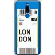 Силиконовый чехол BoxFace Meizu X8 Ticket London (35839-cc83)