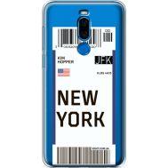 Силиконовый чехол BoxFace Meizu X8 Ticket New York (35839-cc84)