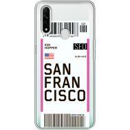 Силиконовый чехол BoxFace OPPO A31 Ticket San Francisco (39939-cc79)