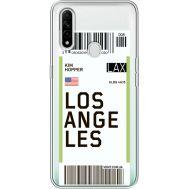 Силиконовый чехол BoxFace OPPO A31 Ticket Los Angeles (39939-cc85)