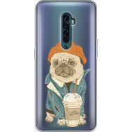 Силиконовый чехол BoxFace OPPO Reno2 Dog Coffeeman (38504-cc70)