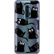 Силиконовый чехол BoxFace OPPO Reno2 с 3D-глазками Black Kitty (38504-cc73)