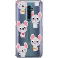 Силиконовый чехол BoxFace OPPO Reno2 с 3D-глазками Mouse (38504-cc76)