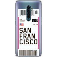 Силиконовый чехол BoxFace OPPO Reno2 Ticket San Francisco (38504-cc79)