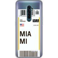 Силиконовый чехол BoxFace OPPO Reno2 Ticket Miami (38504-cc81)