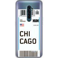 Силиконовый чехол BoxFace OPPO Reno2 Ticket Chicago (38504-cc82)