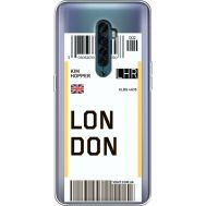 Силиконовый чехол BoxFace OPPO Reno2 Ticket London (38504-cc83)
