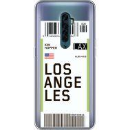 Силиконовый чехол BoxFace OPPO Reno2 Ticket Los Angeles (38504-cc85)