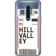 Силиконовый чехол BoxFace OPPO Reno2 Ticket Hill Valley (38504-cc94)