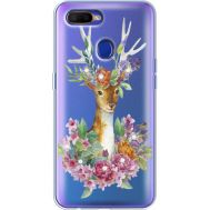 Силиконовый чехол BoxFace OPPO A5s Deer with flowers (938515-rs5)