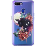 Силиконовый чехол BoxFace OPPO A5s Cat in Flowers (938515-rs10)