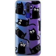Силиконовый чехол BoxFace OPPO A9 2020 с 3D-глазками Black Kitty (38525-cc73)
