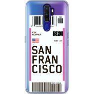 Силиконовый чехол BoxFace OPPO A9 2020 Ticket San Francisco (38525-cc79)