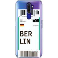 Силиконовый чехол BoxFace OPPO A9 2020 Ticket Berrlin (38525-cc80)