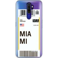 Силиконовый чехол BoxFace OPPO A9 2020 Ticket Miami (38525-cc81)