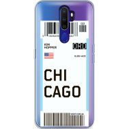 Силиконовый чехол BoxFace OPPO A9 2020 Ticket Chicago (38525-cc82)