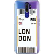 Силиконовый чехол BoxFace OPPO A9 2020 Ticket London (38525-cc83)