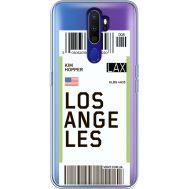 Силиконовый чехол BoxFace OPPO A9 2020 Ticket Los Angeles (38525-cc85)