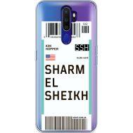 Силиконовый чехол BoxFace OPPO A9 2020 Ticket Sharmel Sheikh (38525-cc90)