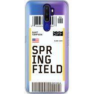 Силиконовый чехол BoxFace OPPO A9 2020 Ticket Springfield (38525-cc93)
