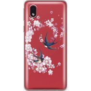 Силиконовый чехол BoxFace Samsung A013 Galaxy A01 Core Swallows and Bloom (940877-rs4)