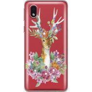 Силиконовый чехол BoxFace Samsung A013 Galaxy A01 Core Deer with flowers (940877-rs5)