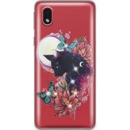 Силиконовый чехол BoxFace Samsung A013 Galaxy A01 Core Cat in Flowers (940877-rs10)