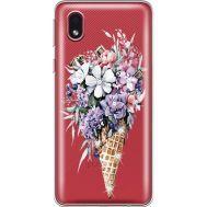 Силиконовый чехол BoxFace Samsung A013 Galaxy A01 Core Ice Cream Flowers (940877-rs17)