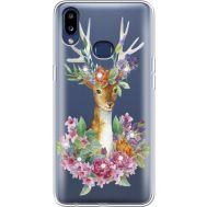 Силиконовый чехол BoxFace Samsung A107 Galaxy A10s Deer with flowers (937945-rs5)