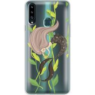 Силиконовый чехол BoxFace Samsung A207 Galaxy A20s Cute Mermaid (38126-cc62)