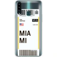 Силиконовый чехол BoxFace Samsung A207 Galaxy A20s Ticket Miami (38126-cc81)