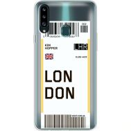 Силиконовый чехол BoxFace Samsung A207 Galaxy A20s Ticket London (38126-cc83)