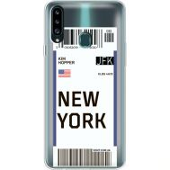 Силиконовый чехол BoxFace Samsung A207 Galaxy A20s Ticket New York (38126-cc84)