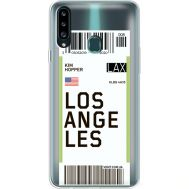 Силиконовый чехол BoxFace Samsung A207 Galaxy A20s Ticket Los Angeles (38126-cc85)