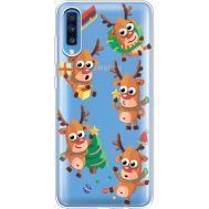 Силиконовый чехол BoxFace Samsung A705 Galaxy A70 с 3D-глазками Reindeer (36861-cc74)
