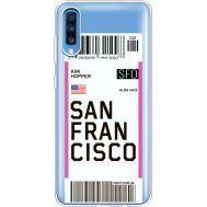 Силиконовый чехол BoxFace Samsung A705 Galaxy A70 Ticket San Francisco (36861-cc79)